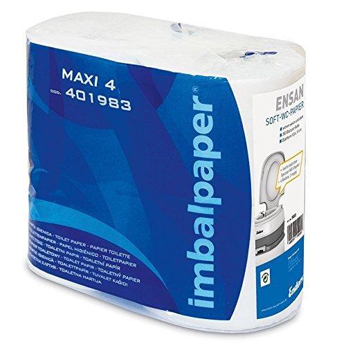 MH-Online Toilettenpapier für Camping-Toiletten, Inhalt: 4 Rollen WC-Papier