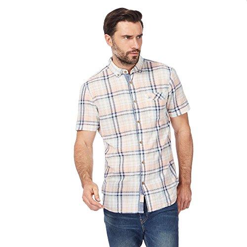 Debenhams Mantaray Mens Big and Tall Green Checked Short Sleeve Shirt From 5XL