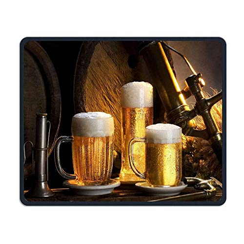 Beer Wallpapers For Desktop Comfortable Rectangle Rubber Base Mousepad Gaming Mouse Pad