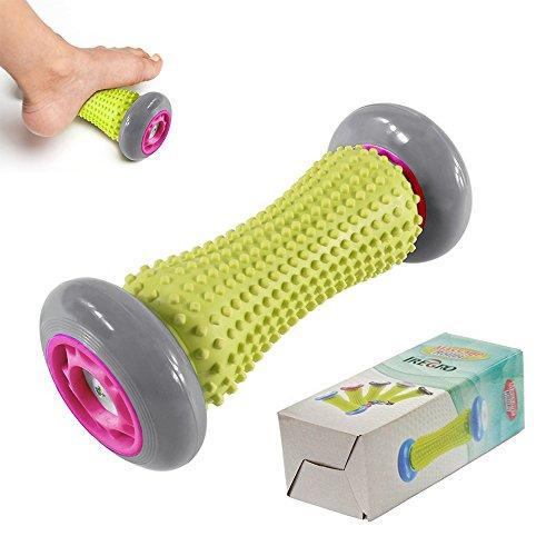 IREGRO fussroller Muskel Roller Stick, Hand und Fuß Massage Roller, faszien rolle fussroller massage stick, Handgelenke und Unterarme Übungsroller, Recovery Tool für Plantar Fasciitis (Grau Rad)