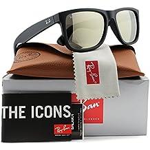 Ray-Ban RB4165Justin–Gafas de sol Negro Mate W/Oro Espejo (622/5A) 41656225un auténtico de 55mm