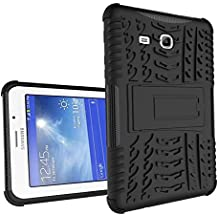 Galaxy Tab 3 Lite 7'' Funda,Samsung Tab3 Lite 7.0 Protección,XITODA Armor Style Hybrid PC + TPU silicone Funda con stand Protección para Samsung Galaxy Tab 3 Lite 7.0 pulgadas SM-T110/T111/T113/T116 Cover Case Carcasa - Negro