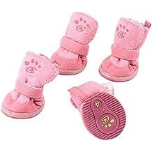 De cierre desmontable para mascotas Zapatos botines XS 2 Par rosa