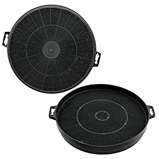 SPARES2GO S1 Type Carbon Charcoal Vent Filters for Baumatic Cooker Hood (Pack of 2, 210 x 32mm)
