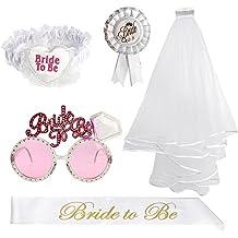 TUPARKA 5 piezas de novia para ser decoración fijada para despedida de soltera, boda nupcial