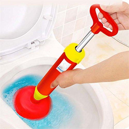 GFYWZ Drain Blaster Pumpe Toilette Plunger Pumpe Drain Unblocker Für WC, Waschbecken, Dusche, Bad Waschbecken Rohr Clog Remover Reinigungswerkzeug, Rot
