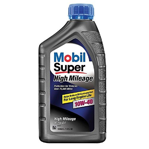 Mobil Super (112945-6PK) High Mileage 10W-40 Motor Oil - 1 Quart, (Pack of 6) by Mobil Super