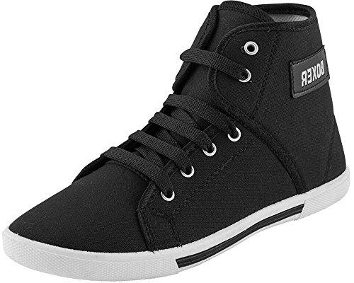 AFROJACK men's boxer canvas boots (9, black)