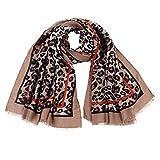 HEETEY Fashion Schal Damen Leopard Print Schal Wickel Tücher Stirnband weichen Schal Langer Schal
