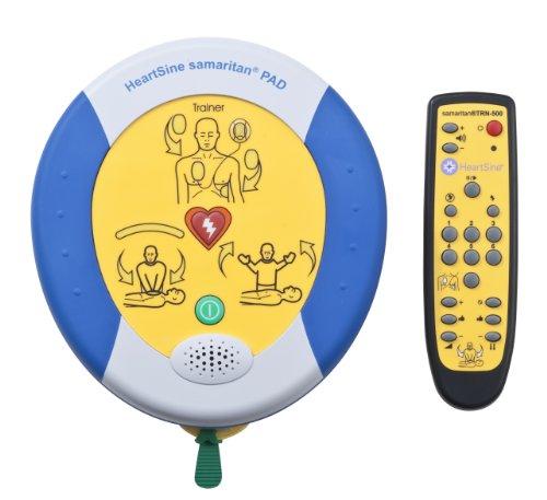 Heartsine Defibrillator Trainer PAD 500 mit Fernbedienung und Ersatz-Trainingselektroden - Herz-defibrillator