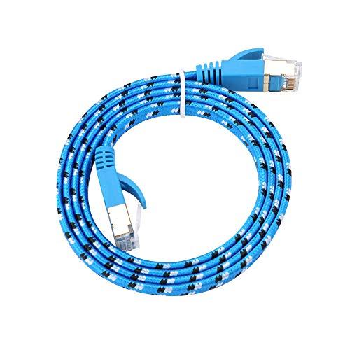 Ethernet-Netzwerkkabel,Ultra-Thin CAT.7 Ethernet Gigabit LAN Netzwerkkabel (RJ45) Patchkabel,Super Speed 1000 MHz RJ45 LAN Network Kabel 8-Core Patch LAN Ethernet-Kabel(1 Meter) - 1 Ultra-thin-kabel