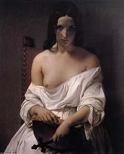Huile sur toile - 16 x 20 inches / 41 x 51 CM - Francesco Hayez - La méditation sur l Histoire de...