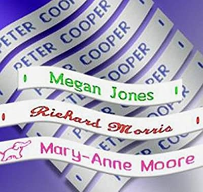 Woven Sew in School Name Tapes Name Tags Labels