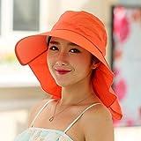 LKMNJ La Sra. Sombreros sombrero Cool Cap Outdoor Riding Hat cara negra son código U