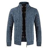 2018 KPPONG Mode Herren Herbst Und Winter Casual Reißverschluss Mit Kapuze Stehkragen Einfache Dark Solid Color Strickjacke Langarm Mantel