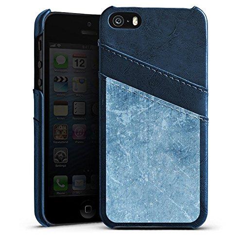 Apple iPhone 4 Housse Étui Silicone Coque Protection Motif bleu Egratignure Structure Étui en cuir bleu marine