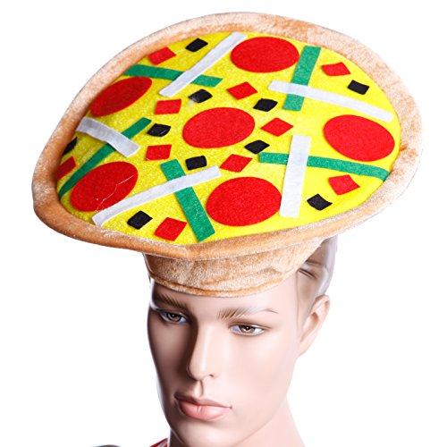 alienische Pizza Mütze Kopfbedeckung Halloween Kostüm Fasching Karneval für Erwachsene Kinder ()