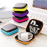 Earphone Pouch, Key Case, (Color Yellow, 2.7 inch, 1 case) Pill Case, Mobile Charging Wire Case, Multipurpose