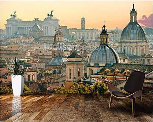 Maßgeschneiderte Moderne Tapete Rom 3D Retro Fototapete Wohnzimmer Schlafzimmer Restaurant Wand Wasserdichte PVC Tapete-400x280cm