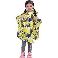 YuYzHanG Impermeables para niños La Bolsa Impermeable Amarillo Lindo del Estudiante de los niños del Poncho Tiene una Bolsa de Llevar De Los Niños del Impermeable Impermeable Y Transpi (Size : L)