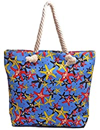 Re-usable Eco Friendly Canvas Material Beach Shopping & Tote Bag Large Capacity. - B0765WDWF1