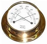 Schiffs Thermometer / Hygrometer 110 mm Messing leicht