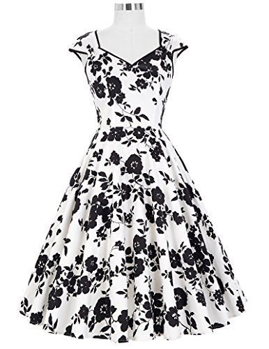 GRACE KARIN® Damen 50s Vintage Rockabilly Kleid Festliches Kleid Sommerkleid CL007600 CL007600-9