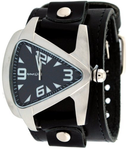 Nemesis-LBB011K-Mens-Premium-Wide-Leather-Strap-Futuristic-Watch
