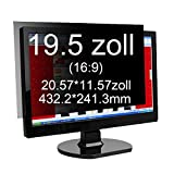 Xianan 19.5 Zoll Widescreen 16:9 Displayfilter Blickschutzfilter Blickschutzfolie Blickschutz Sichtschutz 17.02*9.5in/432.2*241.3mm