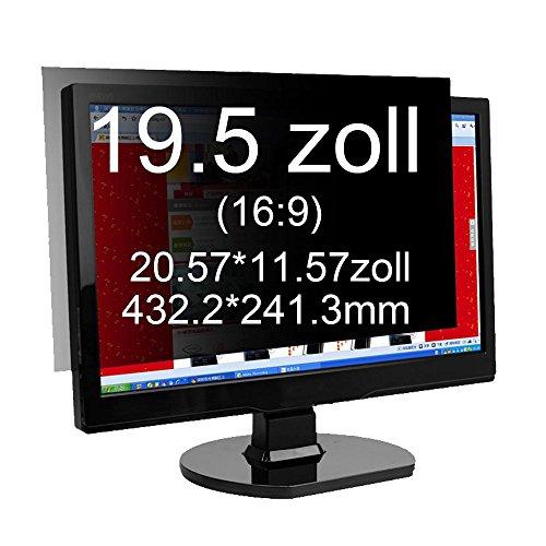 Xianan 19.5 Zoll Widescreen 16:9 Displayfilter Blickschutzfilter Blickschutzfolie Blickschutz Sichtschutz - Zoll Computer 20 Monitor