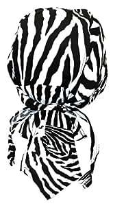 Bandana militaire préformé moto paintball foot dessin noir blanc Zèbre
