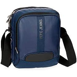 Bandolera Pepe Jeans Bromley Azul grande porta tablet