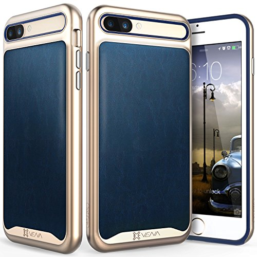 iPhone 7 Plus Funda, Vena [vLuxe][Cuero Espalda | Metal Botón] Protector Slim Fit Armadura Case Cover para Apple iPhone 7 Plus (5.5