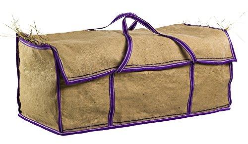 Heusack für den Transport, Jute, Einfass: violett, Länge 100 x Breite 45 x Höhe 40 cm