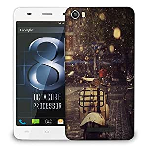 Snoogg Scooter rains Designer Protective Back Case Cover For LAVA IRIS X8