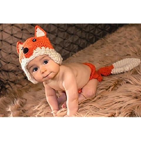 Cute kids-Outlet-uncinetto per neonata, fatto a mano, Cappello Beanie bear