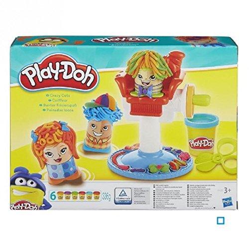Hasbro play-doh - ciuffi matti - playset parrucchiere merchandising ufficiale