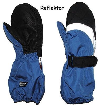 """Fausthandschuhe / Fäustlinge - mit langem Schaft - """" blau """" - Größe: 1 bis 7 Jahre - Reflektor ! _ wasserdicht + atmungsaktiv Thinsulate - Thermo gefüttert / Ski-Handschuhe - Handschuhe - Thermohandschuhe / Fausthandschuh - Fauster / Thermohandschuh - Kin"""