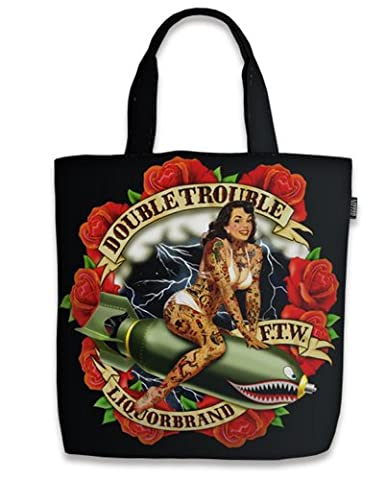 Liquor Brand - Rockabilly Shopper Tasche Double Trouble
