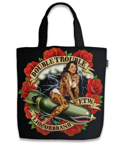 Liquor Brand - Rockabilly Shopper Tasche Double Trouble (Skull Deluxe Cap)