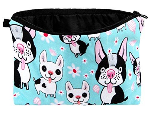 Cartoon Comic französische Bulldogge Kosmetiktasche Tasche