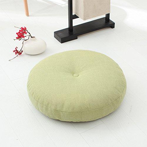 WDZA Baumwolle Futon Gepolsterte Tuch Runde Abnehmbare Waschbare Kissen, 60 X 15 Cm, Grün (Futon Gepolstert)