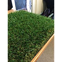 Luxury 30mm Pile Height Artificial Grass | Choose from 47 Sizes on this Listing | Cheap Natural & Realistic Looking Astro Garden Lawn | Sample of Cheap High Density Fake Turf