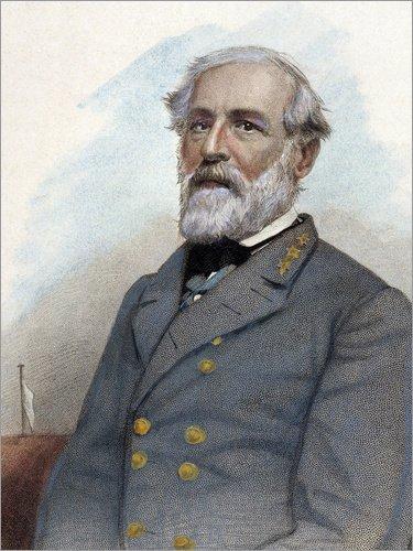 Poster 100 x 130 cm: Robert E. Lee von Julian Vannerson/Granger Collection - hochwertiger Kunstdruck, neues Kunstposter