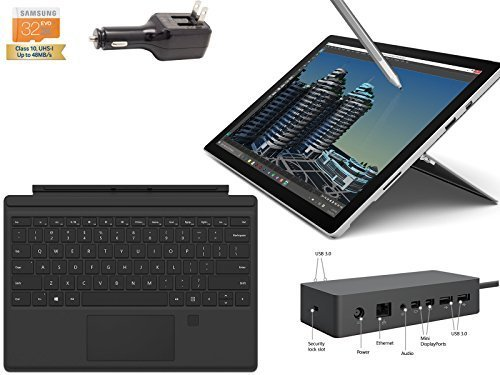 "2015 Newest Microsoft Surface Pro 4 Core i7-6600U 16GB 512GB 12.3"" touch screen with 2736x1824 3K QHD Windows 10 Pro Multi-position Kickstand (Black Cover Fing(US Version imported by uShopMall U.S.A.)"