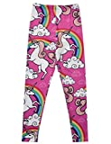Jxstar Kids' Girl's Pants Cartoon Print Unicorn Pattern Ankle Length Basic Leggings