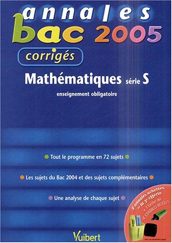 Mathématiques série S : Enseignement obligatoire, corrigés