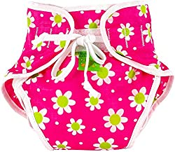 Reusable Swim Diaper | Pink Daisies Size, Medium