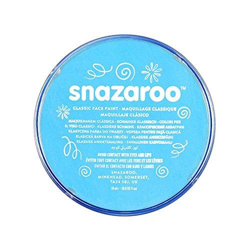Snazaroo 1118488 Kinderschminke, hautfreundliche hypoallergene Gesichtschminke auf Wasserbasis, wasservermalbar, parabenfrei, türkis, 18 ml Topf