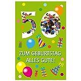 Susy Card 40010267 Geburtstagskarte, 50. Geburtstag